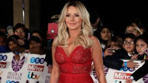 Carol Vorderman attends the Pride of Britain awards