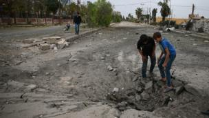 सीरिया के संघर्ष से प्रभावित बच्चे