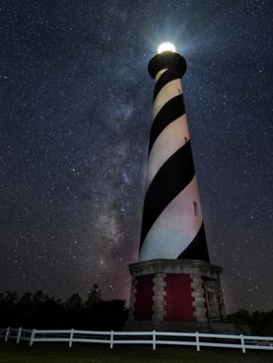 Cape Hatteras Light house on the outer banks of North Carolina