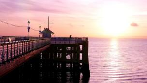 Early morning on Penarth Pier, taken by Thomas Clode