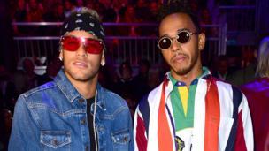 Neymar and Lewis Hamilton