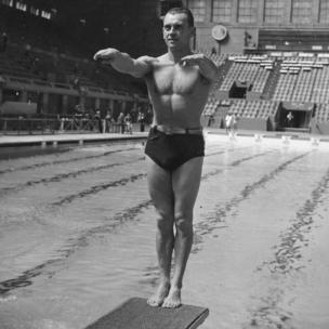 Clavadista en Londres 1948.