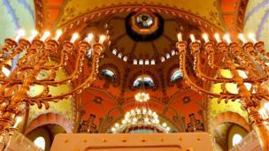 Unutrašnjost sinagoge, mart 2018.