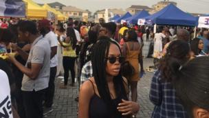 People wey dey crowd di festival