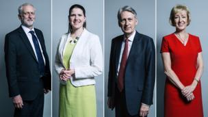 Jeremy Corbyn, Jo Swinson, Philip Hammond, Andrea Leadsom