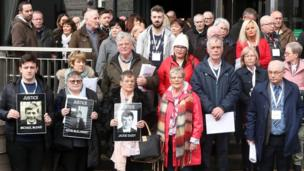 Before the public announcement was made, relatives of those who died attended a briefing with the Director of Public Prosecutions, Stephen Herron, at the City Hotel in Derry.