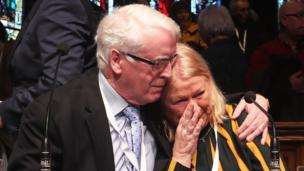 John Kelly and Alana Burke following the announcement