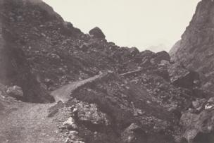 Saint-Sauveur, the Path to Chaos Leading to Gavarnie, from Voyage dans les Pyrenees, 1853
