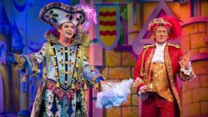Julian Clary and Nigel Havers in Cinderella