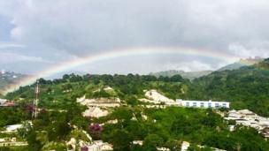 Arcoíris sobre Caracas