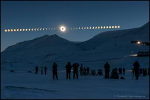 Eclipse over Svalbard, Norway