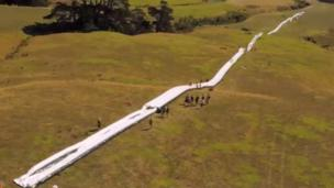 World's longest inflatable slide