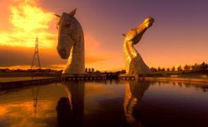 The Kelpie statues in Falkirk