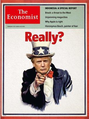 The Economist cover with Donald Trump