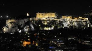 هضبة أكروبوليس في العاصمة اليونانية أثينا