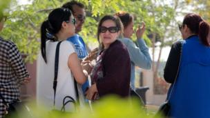 Relatives of passengers on a vanished EgyptAir flight grieve as they leave the in-flight service building where they were held at Cairo International Airport, Egypt, Thursday, 19 May 2016.