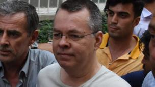 US pastor Andrew Brunston arrives at his home afta bein busted out from prison up in Izmir, Turkey July 25, 2018