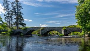 Donald McNaught took this shot of a bridge over the River Dee, near Bala, Gwynedd