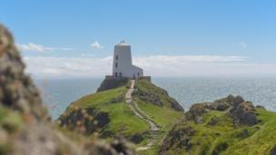 Llanddwyn Island's lighthouse in Anglesey