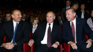 İlham Əliyev, Vladimir Putin, Recep Tayyip Erdoğan
