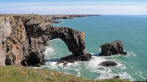 Green Bridge in Pembrokeshire