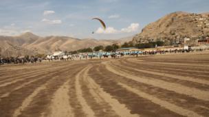 بزکشی ویژه جشنواره با نمایش چتربازان