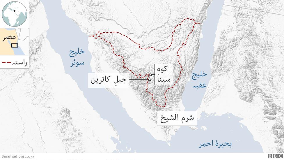 صحرائے سینا کا نقشہ