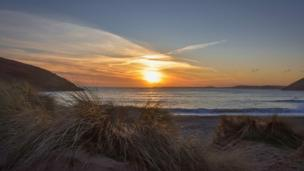 Mandy Llewellyn shot this relaxing image of Manorbier beach in Pembrokeshire