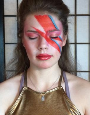 A girl with David Bowie make-up