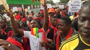 zanga-zangar adawa da sojoji a Ghana
