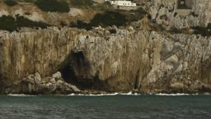 Gorham's Cave on the rock of the Gibralter