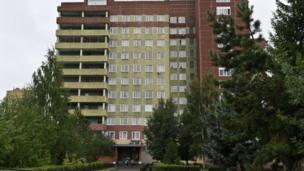 The emergency hospital in Omsk where Mr Navalny is being treated