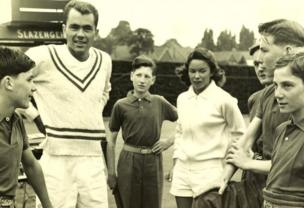 John and Beverly Fleitz with the Ball Boys in 1956