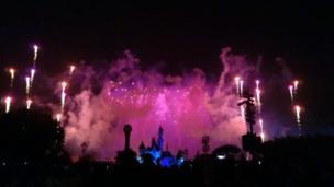 The luminous closing ceremony at Disneyland, Hong Kong
