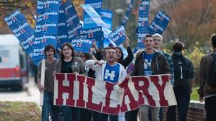 Un grupo que apoya a Hillary