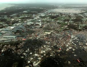 Devastación islas Ábaco.