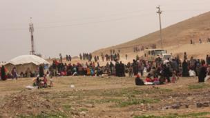 فرار سكان الموصل