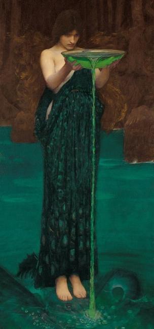 Circe en una pintura de John William (1849-1917)
