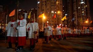 上海信众参与圣诞游行