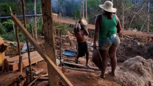 ब्राजील में सोने का अवैध उत्खनन