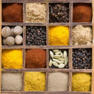 Spices in a box
