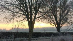 Sunrise at Long Wittenham