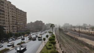 En plein Centre du Caire, l'avenue Ramses.