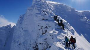 Climbers in the Cairngorms