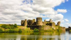 Turrets and a leaning tower: David Wright took this shot at Caerphilly castle