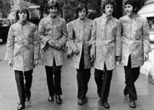 Pop group Marmalade in London wearing spectacular jackets. The members are Dean Ford, Graham Knight, Pat Fairley, Willie Junior Campbell and Alan Whitehead (not in order).