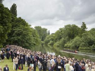 Annual Eton College Procession of Boats, River Thames, Windsor, Berkshire, 17 June 2016