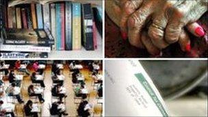 composite pic of council services
