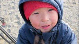 An Alaskan child at the Naluqatak festival in Barrow
