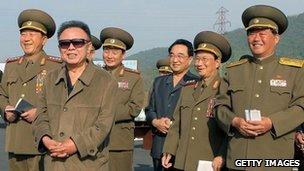Kim Jong-il in a picture released7 June 2010